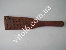 Лопатка деревянная красная с дыр.VT6-13676(500шт)