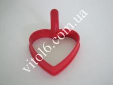 Форма силик. для яичницы  Сердце  VT6-15414(240)