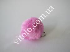 Брелок шарик меховый О8см(6-ть цв) VT6-15521(2400)