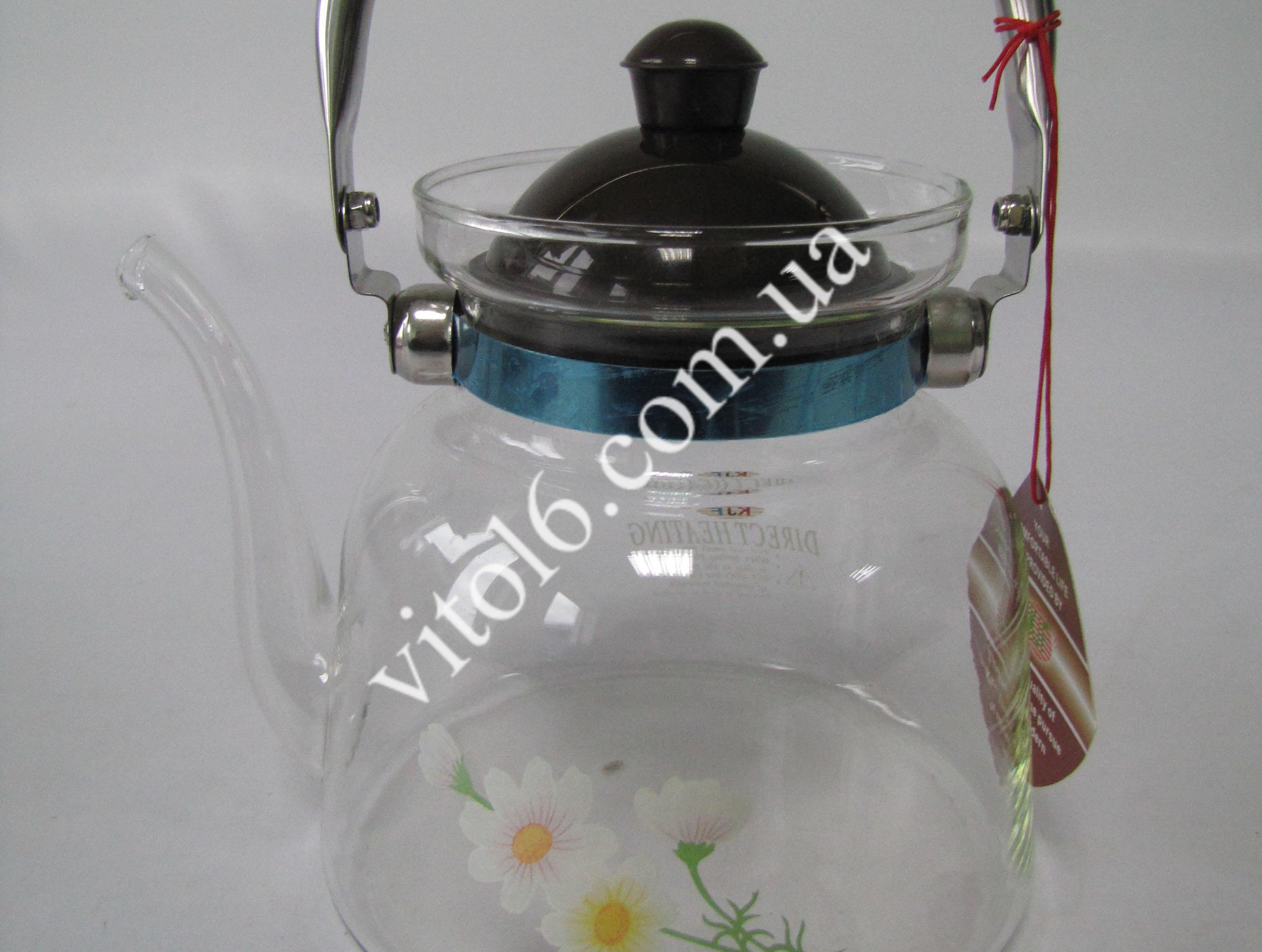 Чайник жаропрочный 1,4л с нос. 6609 Y-3 КТ10(18шт)