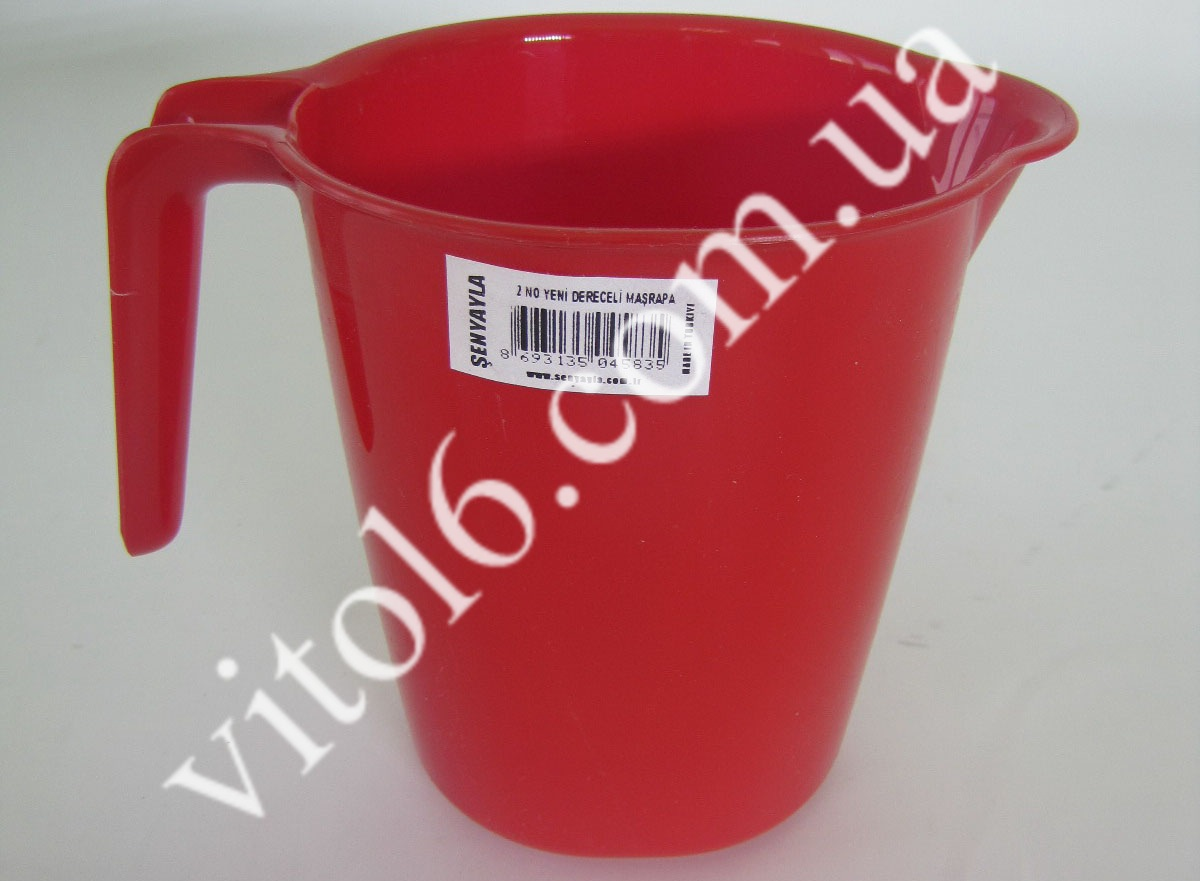Кружка мерная 4583 цветная  ( 50шт)