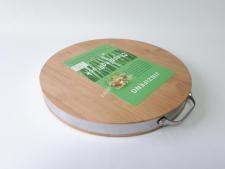 Дошка дерев яна з метал. обідком О38см т=3,8ммVT6-15800