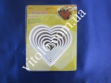 Форма кондит из 7-ми сердец VT6-15938(156шт)