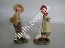 Статуэтка Фермер и гуси (2вида) VT6-16096(36шт)