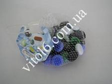Камешки для аквариума №197 стекло цветное (80шт)
