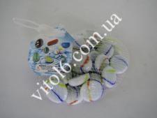 Камешки для аквариума №-196  белый камень (100шт)