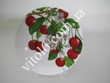 Тарелка  Вишня в цвету  мелкая №9  7736  (48шт)