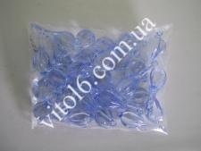 Кристалл пластм голубой (200шт/уп)  VT6-16155(50у)