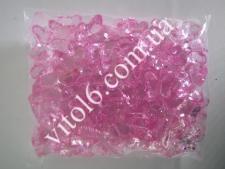 Кристалл пластм 3191бабочка розов(103/уп)VT6-16162