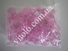 Кристалл пластм 3191бабочка розов(101/уп)VT6-16165