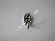 Крючок одинарный хром овал TL-0405 (1000шт)