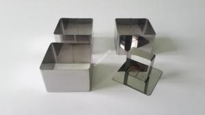 Форма для гарніру в наборі з 3-х квадратики 6см * 6см VT6-16496 (100шт)