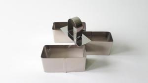 Форма для гарніру в наборі з 3-х прямокутні 8см*3,5см*h4cм VT6-16497(100шт)
