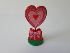 Визитница деревянная  Сердце  VT6-16674(480шт)