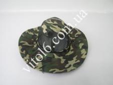 Шляпа тканевая хаки с сеткой VT6-16751(500шт)