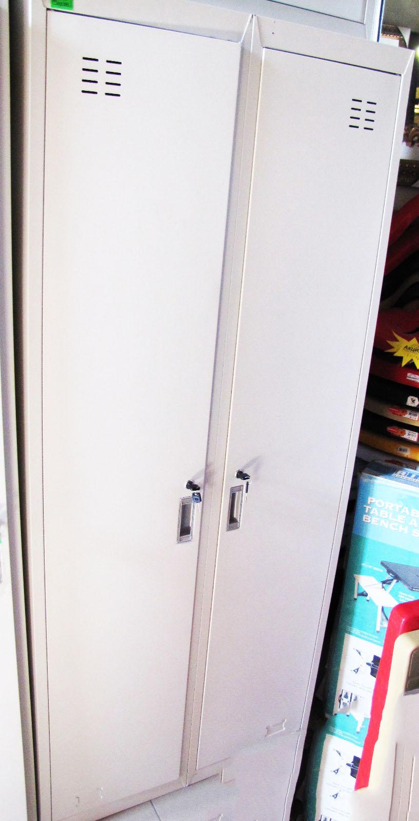 Шкаф метал.двойной белый т=0,8мм 069(1шт)