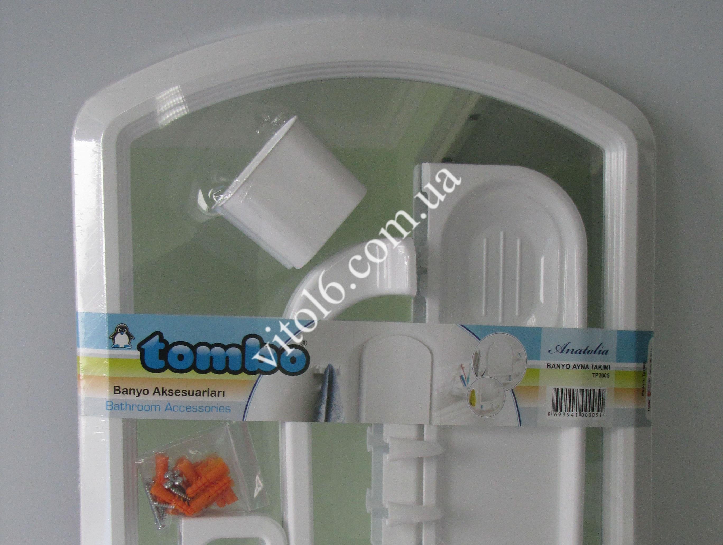 Набор в ванную арка  TOMBO +4 аксес.ТР2001 ЭКО  (6шт)