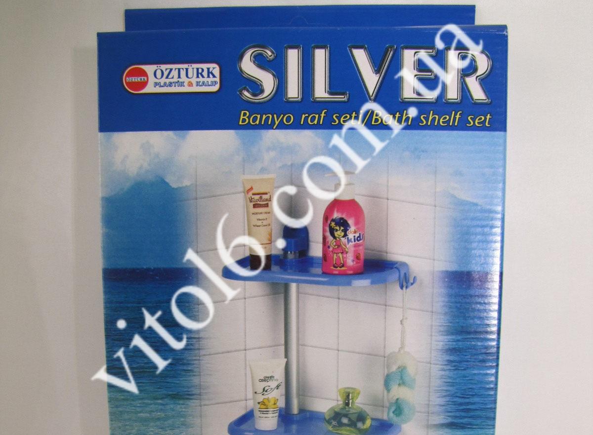 Полка в ванную прям. 3-х эт. Silver3 ТР2012 (14шт)