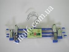 Плечики метал + силікон д / брюк в наб з 3-х  VT6-16797(80шт)