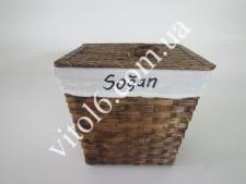 Корзинка  Соломка  с тканью SEFA-SFP01 №02