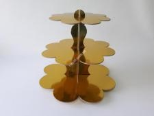 Этажерка картон.из3-х для пирожен.золотоVT6-17353