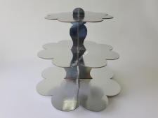 Этажерка картон.из3-х для пирожен.сереброVT6-17354
