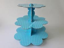 Этажерка картон.из3-х для пирожен.голубVT6-17357