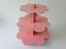 Этажерка картон.из3-х для пирожен.розовVT6-17356