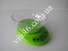 Весы кух.КЕ-1 LCD до 5-и кг с кругл.чашей  (24шт)