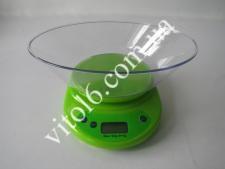 Весы кух.КЕ-2 LCD до 5-и кг с овал.чашей  (24шт)