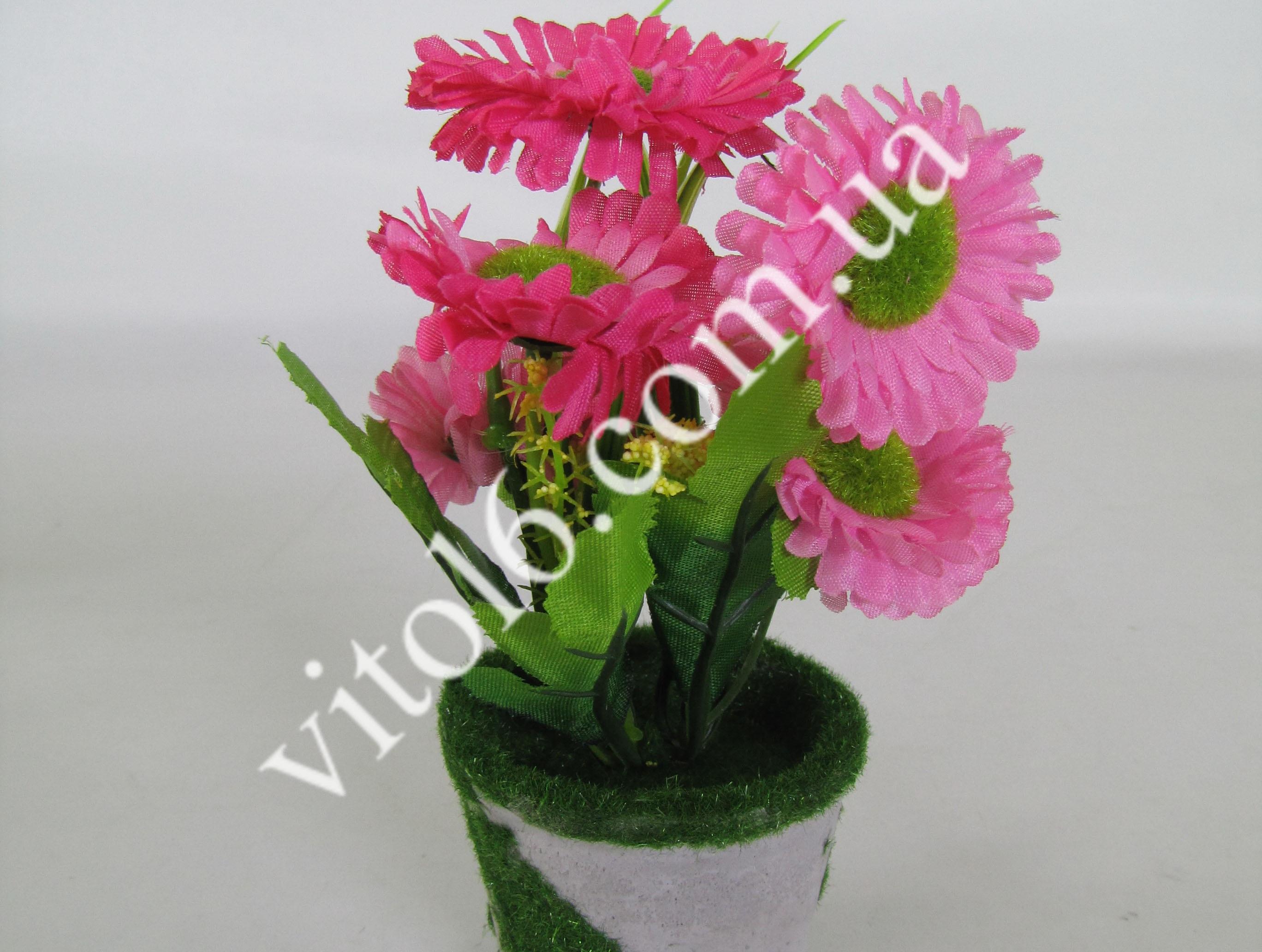 Цветы искусств.в горшочке VT6-17617(144шт)