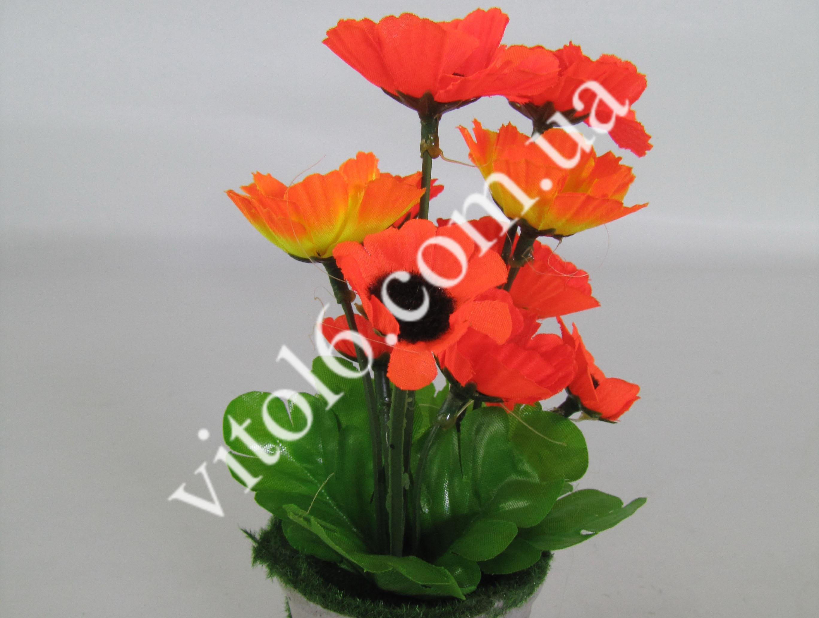 Цветы искусств.в горшочке VT6-17618(144шт)