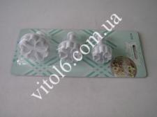 Плунжер для мастики из 3-х  Цветы  VT6-17080(240)