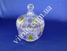 Конфетница стекл.фиолет О14*18см VT6-17319(12)