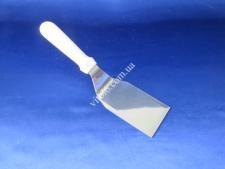 Лопатка металл с белой ручкой изогнутая29см(раб12,5*7см) VT6-17347(120шт)