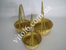 Набор корзинок из лозы из 3-х VT6-17502(48шт)