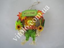 Композиция Веночек соломенный Welcom VT6-17576(288