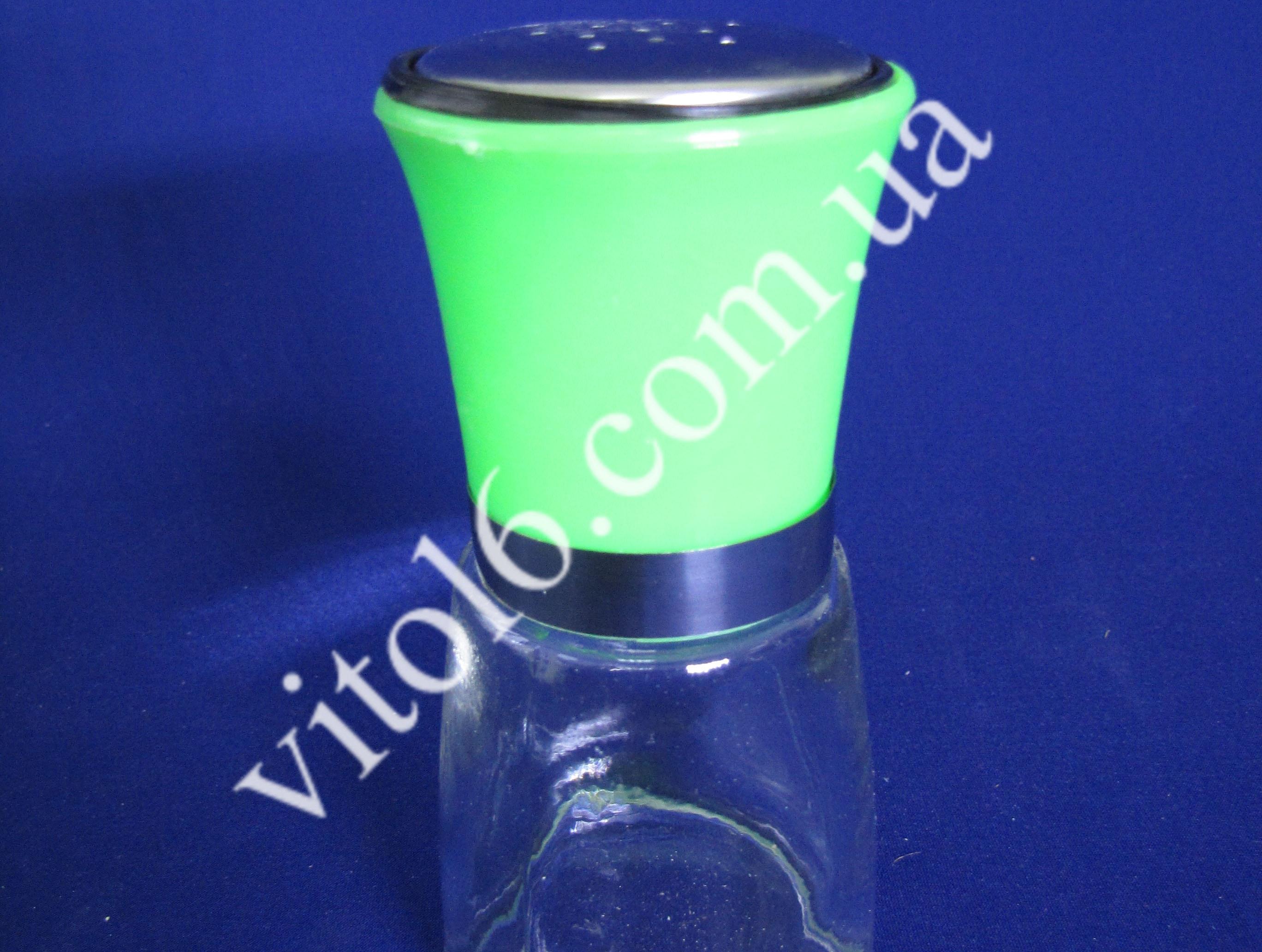 Солонка стеклянная с цветной крышкойVT6-17664(96)