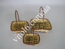 Набор корзинок из лозы из 3-х VT6-17372(180шт)