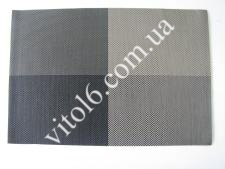 Салфетка под тарелки Клетка чёрно-белVT6-17410