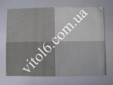 Салфетка под тарелки Клетка серая VT6-17412