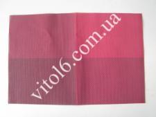 Салфетка под тарелки Клетка малинVT6-17413