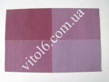 Салфетка под тарелки Клетка фиолVT6-17414