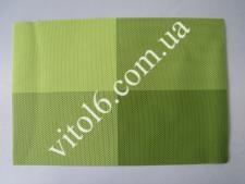 Салфетка под тарелки Клетка салатовVT6-17415(300)
