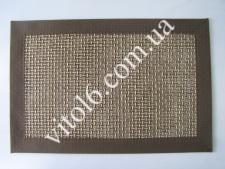 Салфетка под тарелки тканевая Сетка коричневVT6-17425(300)
