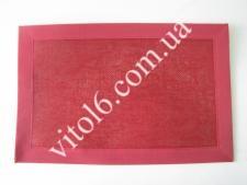 Салфетка под тарелки тканевая  Сетка красная VT6-17426(300)