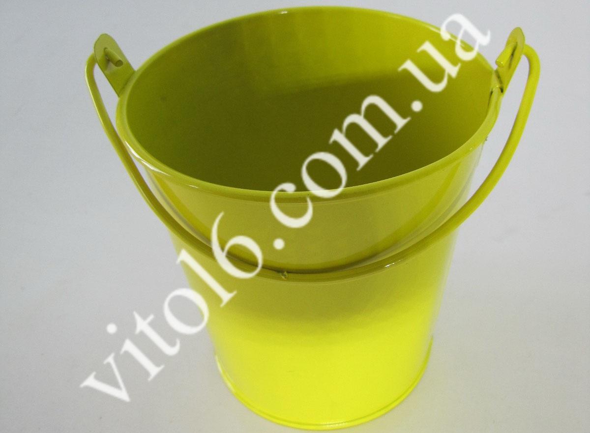 Ведёрко металл цветное для декора О9*9см(5-цв)VT6-17483(400)