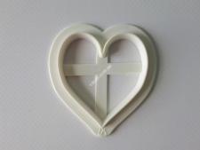 Вирубка кондит.пластм. Серце 6см малVT6-17142(200