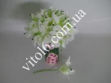 Лилия искусств.белая бол(20шт)VT6-17594(720)