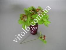 Орхидея искусств.св.зел.на проволоке(48)VT6-17605